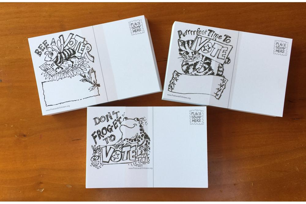 Animal puns postcards by Fredi Leaf
