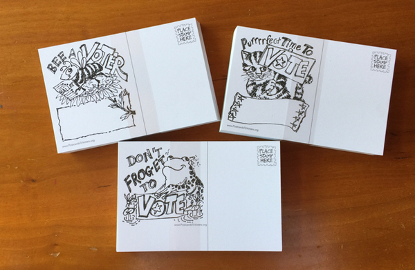Image Animal Pun Voter Postcards